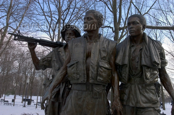 usa1360: Washington, D.C., USA: Sculpture of American soldiers in Vietnam by Frederick Hart - Three Servicemen statue, part of the Vietnam Veterans Memorial - The Mall - photo by C.Lovell - (c) Travel-Images.com - Stock Photography agency - Image Bank