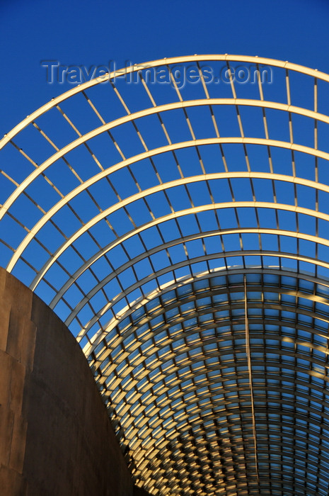 usa1363: Denver, Colorado, USA: Denver Performing Arts Complex - exposed metal beams - vaulted entrace of 'The Plex' -  industrial style architecture by Kevin Roche - Speer and Arapahoe Streets - photo by M.Torres - (c) Travel-Images.com - Stock Photography agency - Image Bank