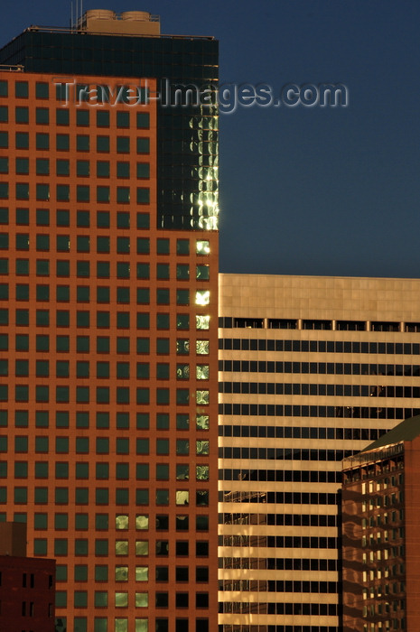 usa1370: Denver, Colorado, USA: One Tabor Center (L) and 1125 17th Street (R) - city center skyscrapers - photo by M.Torres - (c) Travel-Images.com - Stock Photography agency - Image Bank