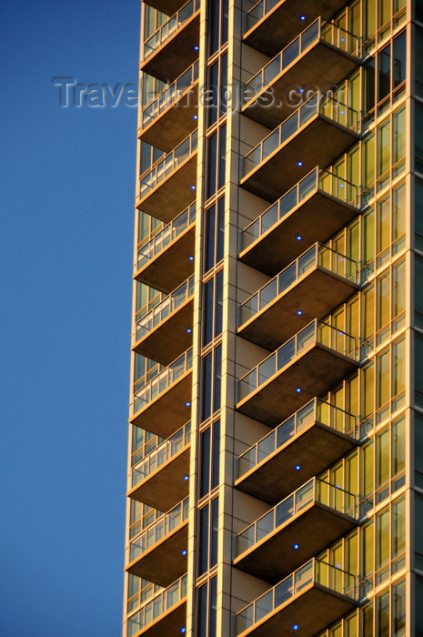 usa1373: Denver, Colorado, USA: Spire Condominium Tower - balconies - architecture by Rnl Design - 14th and Champa Streets, CBD - photo by M.Torres - (c) Travel-Images.com - Stock Photography agency - Image Bank