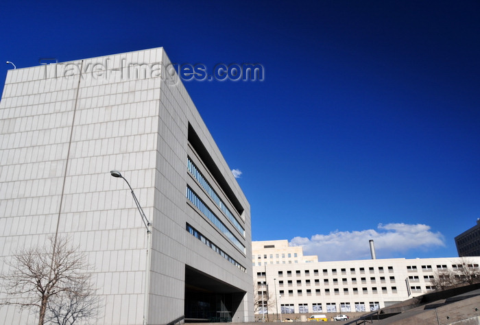 usa152: Denver, Colorado, USA: Colorado Supreme Court - Colorado State Judicial Building - architecture by John Rogers and RNL Design - modernist structure with an inverted 'U' design - 14th and Broadway, Civic Center - photo by M.Torres - (c) Travel-Images.com - Stock Photography agency - Image Bank