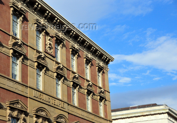 usa165: Washington, D.C., USA: Gallup Building, former Masonic Temple - French Renaissance Revival style by the German architects Adolf Cluss and  Joseph Wildrich von Kammerhueber - F Street NW - Penn Quarter neighborhood - photo by M.Torres - (c) Travel-Images.com - Stock Photography agency - Image Bank