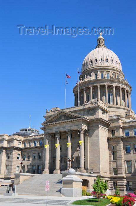usa1714: Boise, Idaho, USA:  Idaho State Capitol - Neo-Classical facade on West Jefferson Street (National Style) - the building uses geothermal energy - photo by M.Torres - (c) Travel-Images.com - Stock Photography agency - Image Bank