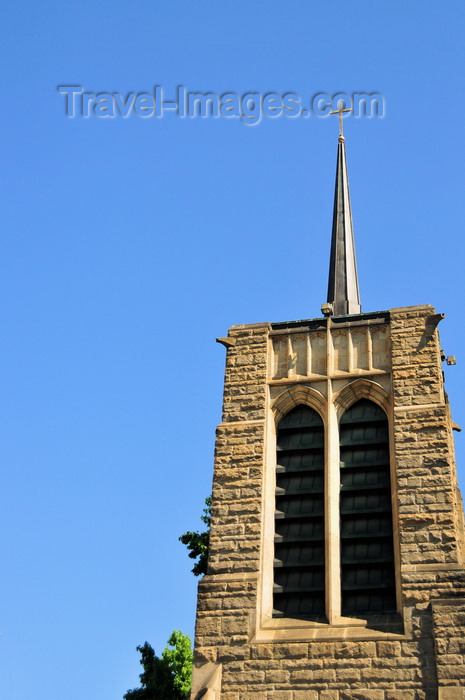 usa1716: Boise, Idaho, USA: Saint Michael's Episcopal Cathedral - neo-Gothic bell tower from 1902, built using stone from the Table Rock quarry - 518 N 8th St - photo by M.Torres - (c) Travel-Images.com - Stock Photography agency - Image Bank