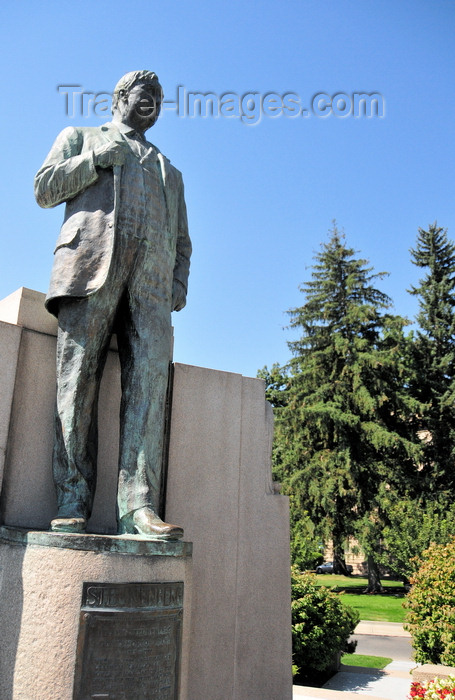 usa1718: Boise, Idaho, USA: Governor Steunenber statue - he restored  law and order to the state and was later assassinated - sculptor Gilbert Riswold - North Capitol Boulevard - photo by M.Torres - (c) Travel-Images.com - Stock Photography agency - Image Bank