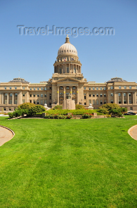 usa1719: Boise, Idaho, USA:  Idaho State Capitol, Steunenber monument and the lawns on Capitol Blvd  - photo by M.Torres - (c) Travel-Images.com - Stock Photography agency - Image Bank
