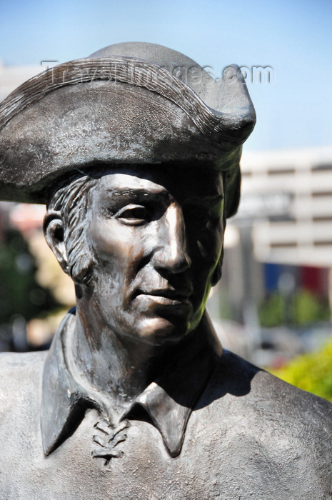 usa1721: Boise, Idaho, USA:  Meriwether Lewis in a three-cornered hat - Hospitality of Nez Perce chief - monument to the meeting with Lewis and Clark - photo by M.Torres - (c) Travel-Images.com - Stock Photography agency - Image Bank