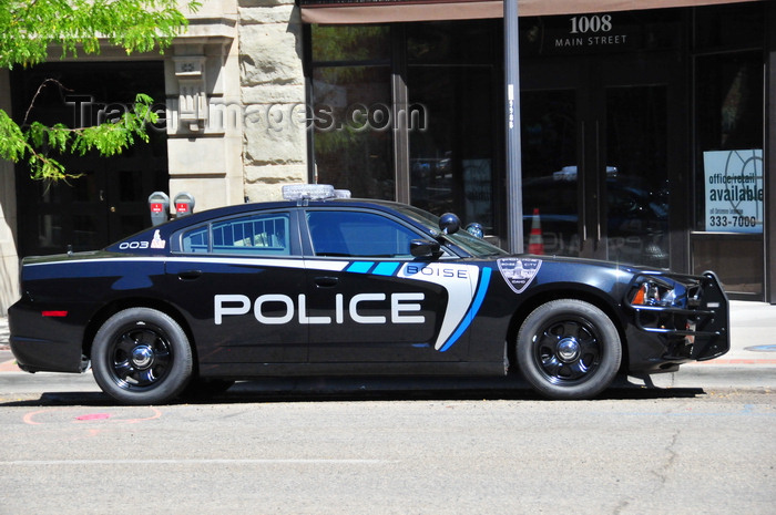 usa1740: Boise, Idaho, USA: police car on Main street -  2011 Dodge Charger - photo by M.Torres - (c) Travel-Images.com - Stock Photography agency - Image Bank