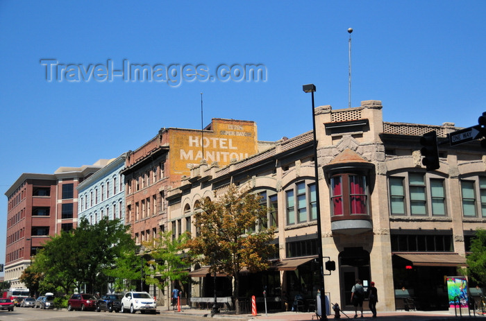 usa1741: Boise, Idaho, USA: Gem and Noble Building and former Hotel Manitou - view along Main street at the corner with 10th street - photo by M.Torres - (c) Travel-Images.com - Stock Photography agency - Image Bank