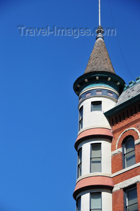 usa1742: Boise, Idaho, USA: Idanha hotel, completed in 1901 - turret detail - French Chateau Style, architect W.S. Campbell - 928 West Main Street, Downtown - photo by M.Torres - (c) Travel-Images.com - Stock Photography agency - Image Bank