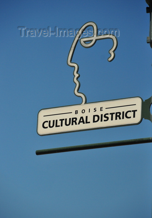 usa1745: Boise, Idaho, USA: sign for Boise Cultural District, S 8th St - Ada county - photo by M.Torres - (c) Travel-Images.com - Stock Photography agency - Image Bank