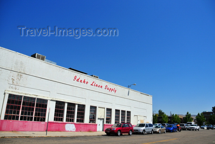 usa1748: Boise, Idaho, USA: Idaho Linen Supply building - 1950s architecture - Fulton Street, Boise Cultural District - photo by M.Torres - (c) Travel-Images.com - Stock Photography agency - Image Bank