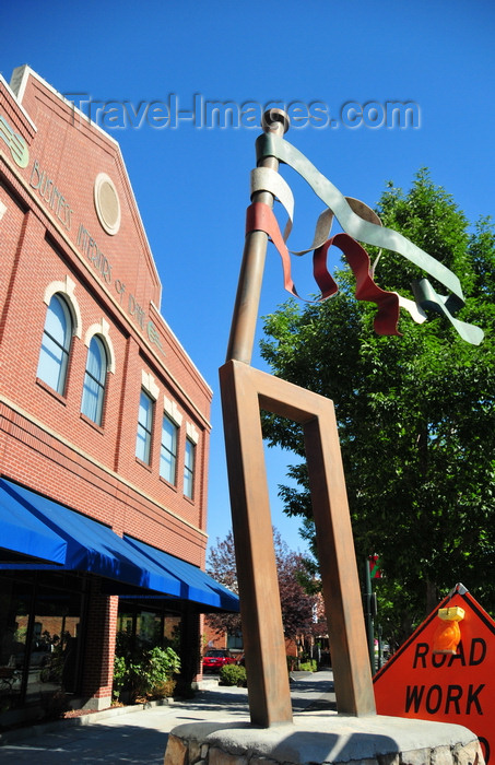 usa1753: Boise, Idaho, USA: Basque monument - a Laiak, a traditional Basque agricultural tool used to turn the soil - the seven ribbons represent the provinces of Euskadi - Basque block - photo by M.Torres - (c) Travel-Images.com - Stock Photography agency - Image Bank