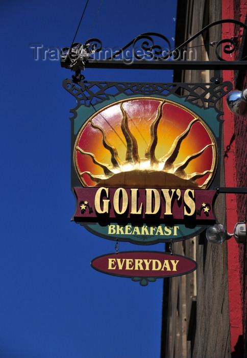 usa1754: Boise, Idaho, USA: sign outside Goldy's Breakfast Bistro, 108 South Capitol Boulevard, Downtown - photo by M.Torres - (c) Travel-Images.com - Stock Photography agency - Image Bank