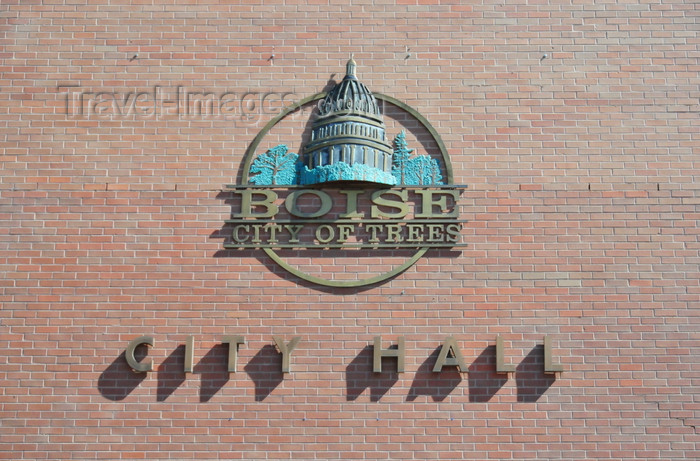 usa1756: Boise, Idaho, USA: City Hall sign - city of trees - photo by M.Torres - (c) Travel-Images.com - Stock Photography agency - Image Bank