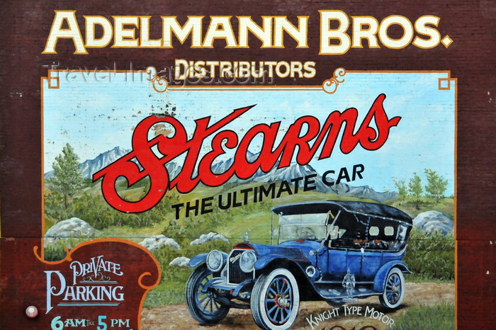 usa1758: Boise, Idaho, USA: mural ad for Stearns cars at the Adelmann building, Idaho St - Old Boise Historic District - photo by M.Torres - (c) Travel-Images.com - Stock Photography agency - Image Bank