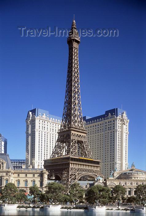 usa189: Las Vegas (Nevada): Hotel Paris - Paris Casino - mock Eiffel tower - photo by A.Bartel - (c) Travel-Images.com - Stock Photography agency - Image Bank