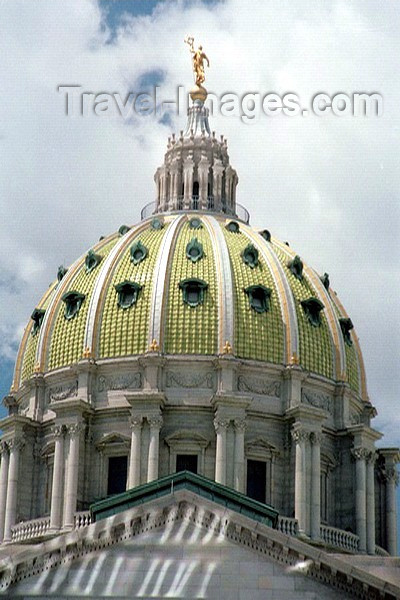 usa214: Harrisburg, Pennsylvania, USA: the Capitol's dome - photo by J.Kaman - (c) Travel-Images.com - Stock Photography agency - Image Bank