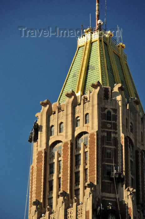 Baltimore Maryland Usa Copper And Gold Roof Of The Bank