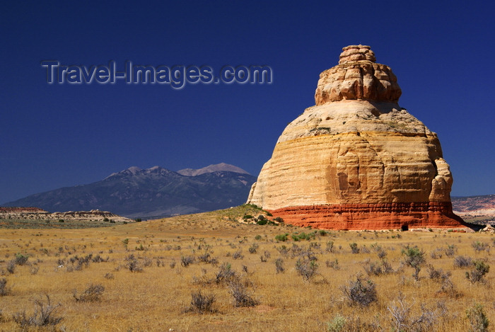 usa2245: Utah, USA: strange rock formation on the road to Moab - natural stupa - photo by A.Ferrari - (c) Travel-Images.com - Stock Photography agency - Image Bank