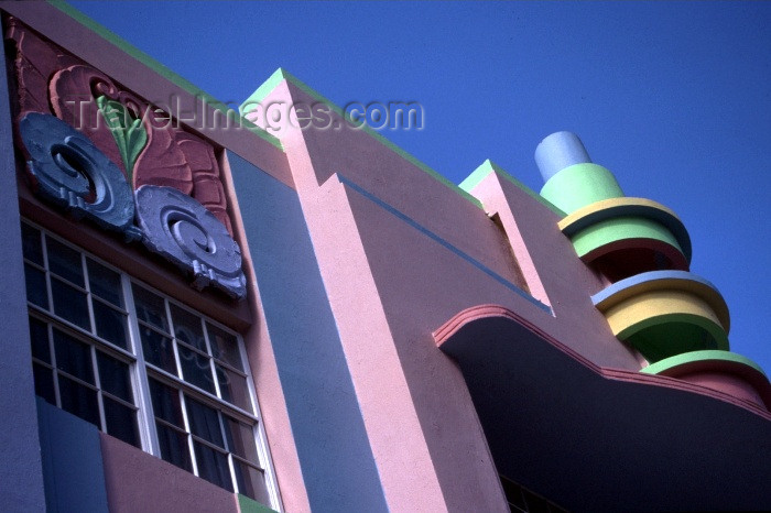 usa261: Miami / MIA / MIO (Florida): the 1920s - architecture details - Berkley Shore Hotel - photo by F.Rigaud - (c) Travel-Images.com - Stock Photography agency - Image Bank