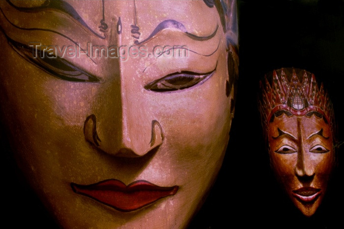 usa263: Miami / MIA / MIO (Florida):oriental masks - photo by F.Rigaud - (c) Travel-Images.com - Stock Photography agency - Image Bank