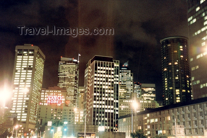 usa329: Seattle, Washington, USA: city lights - nocturnal - photo by M.Torres - (c) Travel-Images.com - Stock Photography agency - Image Bank