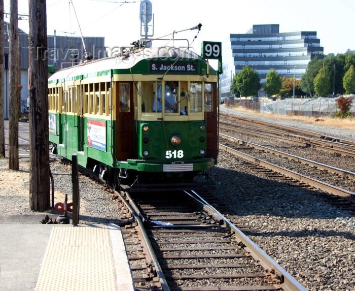 usa339: Seattle, Washington, USA: streetcar / tram - photo by R.Ziff - (c) Travel-Images.com - Stock Photography agency - Image Bank