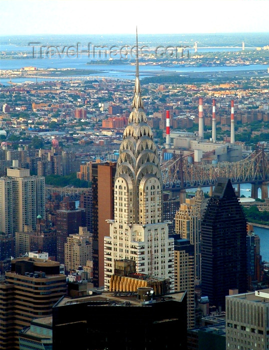 usa400: Manhattan, New York, USA: Chrysler building from the Empire State - photo by Llonaid - (c) Travel-Images.com - Stock Photography agency - Image Bank