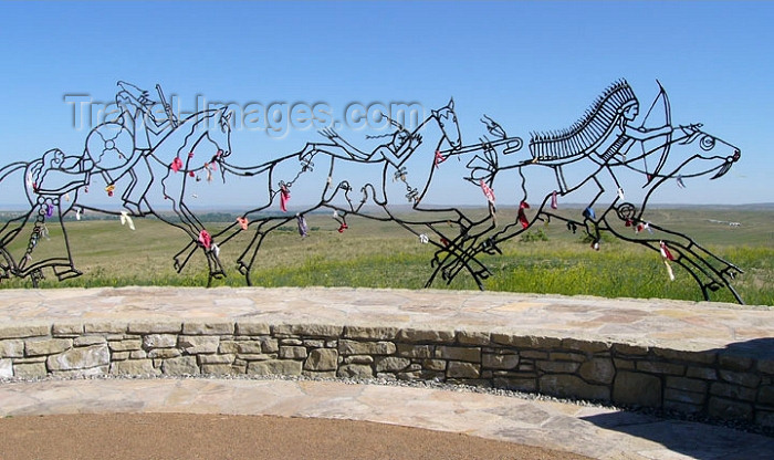usa408: Little BigHorn (Montana): Peace through Unity Memorial at the Bighorn Battle site - photo by G.Frysinger - (c) Travel-Images.com - Stock Photography agency - Image Bank