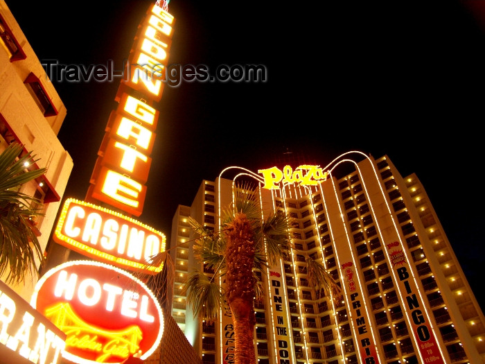 usa480: Las Vegas (Nevada): Union Plaza and Golden Gate casino - Kasino - neon lights - photo by G.Friedman - (c) Travel-Images.com - Stock Photography agency - Image Bank