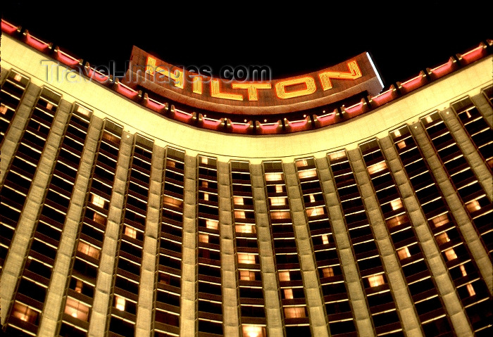 usa481: Las Vegas (Nevada): the Hilton hotel (photo by G.Friedman) - (c) Travel-Images.com - Stock Photography agency - Image Bank