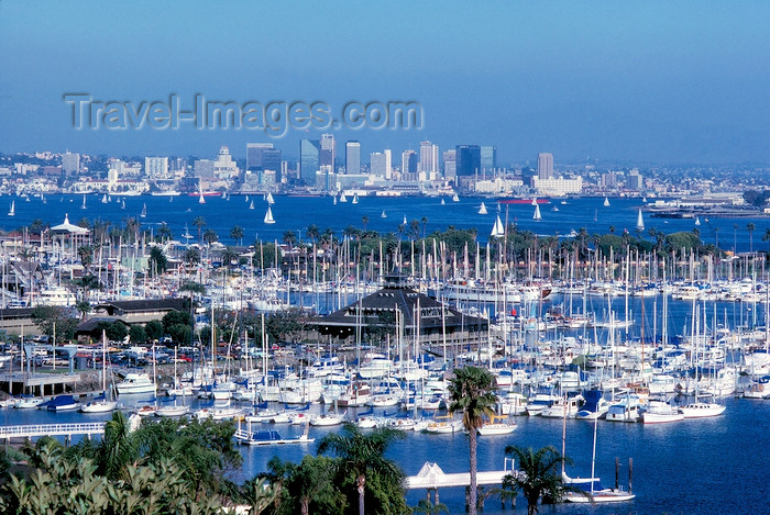 usa5: San Diego (California): Shelter Island and San Diego bay - marina - photo by J.Fekete - (c) Travel-Images.com - Stock Photography agency - Image Bank