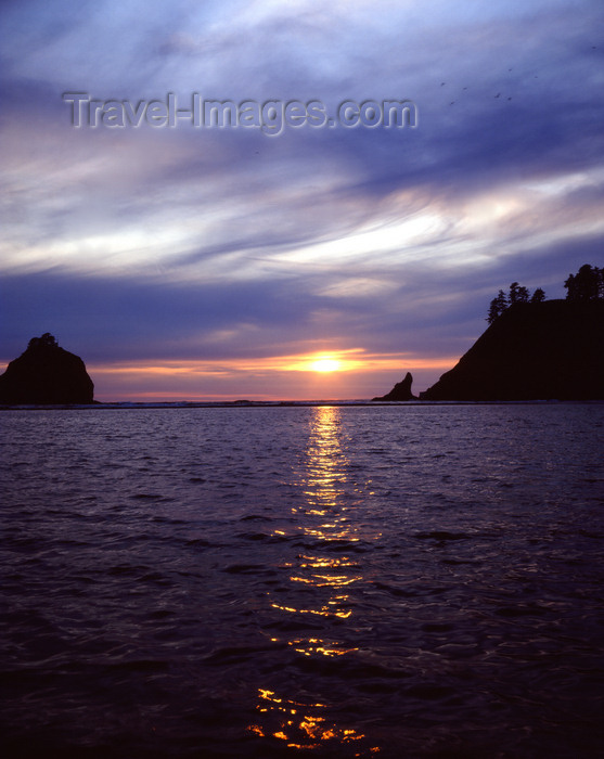 usa51: Olympic National Park (Oregon): susnset on the Pacific coast - photo by J.Fekete - (c) Travel-Images.com - Stock Photography agency - Image Bank