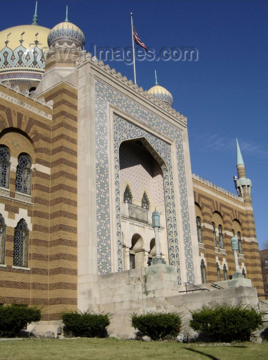 usa546: Milwaukee (Wisconsin): Tripoli Mosque - Temple - Tripoli Shrine Masonic Temple - Ancient Arabic Order of the Nobles of the Mystic Shrine for North America - Shriners, or Shrine Masons - photo by G.Frysinger - (c) Travel-Images.com - Stock Photography agency - Image Bank