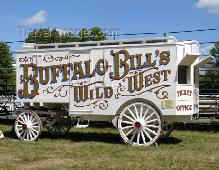 usa572: Old Wade House State Park - Sheboygan County (Wisconsin): Buffalo Bill's Wild West wagon from the Coach Museum - Wild West Show - photo by G.Frysinger - (c) Travel-Images.com - Stock Photography agency - Image Bank
