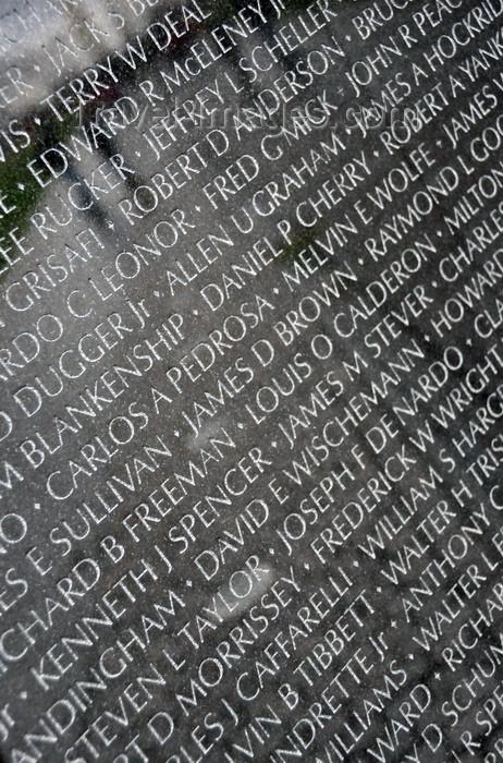 Washington DC USA Vietnam Veterans Memorial Wall