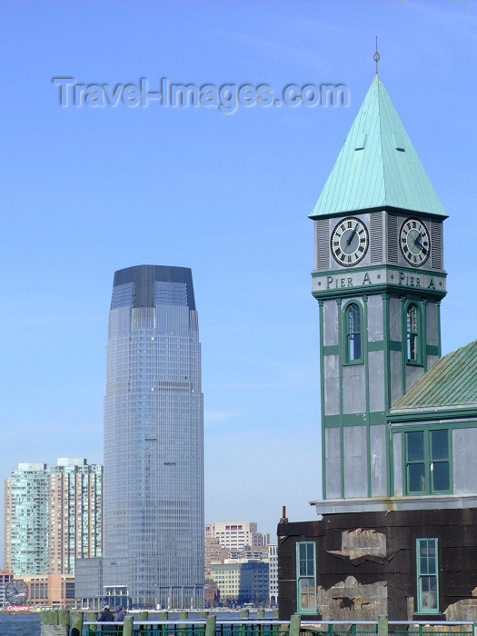 usa590: New York, USA: pier A - the clocktower is a World War I memorial - photo by M.Bergsma - (c) Travel-Images.com - Stock Photography agency - Image Bank