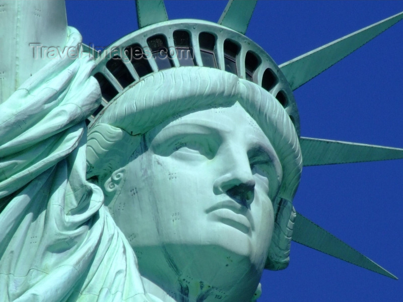 usa591: New York, USA: Statue of Liberty - face close up - Unesco world heritage site - photo by M.Bergsma - (c) Travel-Images.com - Stock Photography agency - Image Bank