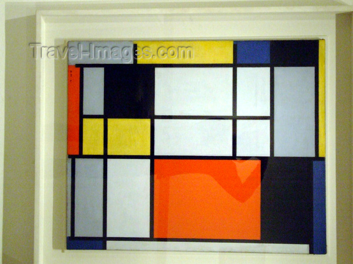 usa662: New York City: Piet Mondriaan at the Metropolitan Museum of Art - composition - Neo-Plasticist painting - 1000 Fifth Avenue - photo by M.Bergsma - (c) Travel-Images.com - Stock Photography agency - Image Bank