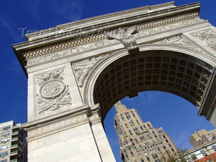 usa684: New York City: Washington Square - Washington's Arch - Greenwich Village - Lower Manhattan - photo by M.Bergsma - (c) Travel-Images.com - Stock Photography agency - Image Bank