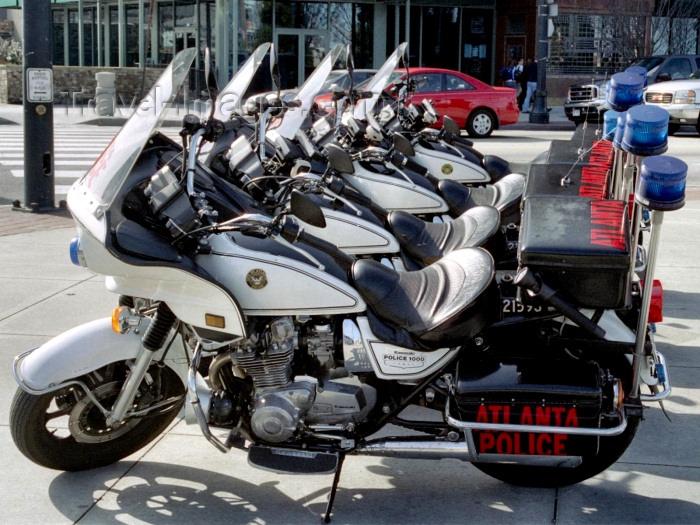 usa693: Atlanta (Georgia): Police motors - Kawasaki motos - photo by M.Bergsma - (c) Travel-Images.com - Stock Photography agency - Image Bank