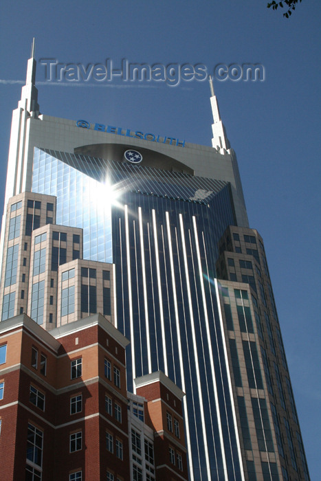usa754: Nashville - Tennessee, USA: BellSouth Batman building - tower - skyscraper - Commerce Street - architects: Earl Swensson Associates - photo by M.Schwartz - (c) Travel-Images.com - Stock Photography agency - Image Bank