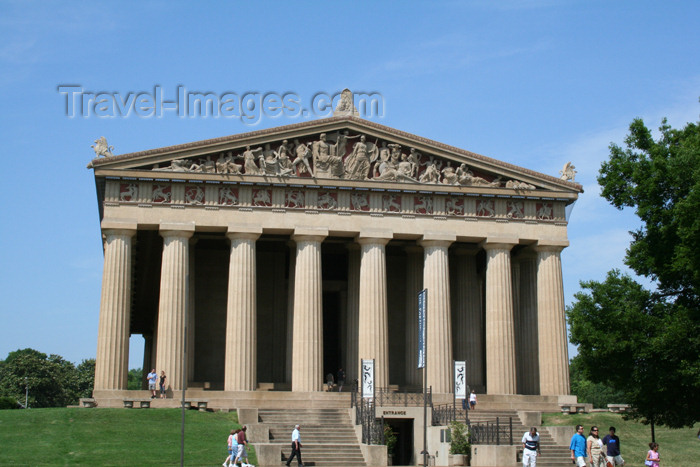 usa760: Nashville - Tennessee, USA:  full-scale replica of the Parthenon in Athens - photo by M.Schwartz - (c) Travel-Images.com - Stock Photography agency - Image Bank