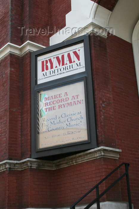 usa761: Nashville - Tennessee, USA: Ryman hall -  the Mother Church of Country Music - photo by M.Schwartz - (c) Travel-Images.com - Stock Photography agency - Image Bank