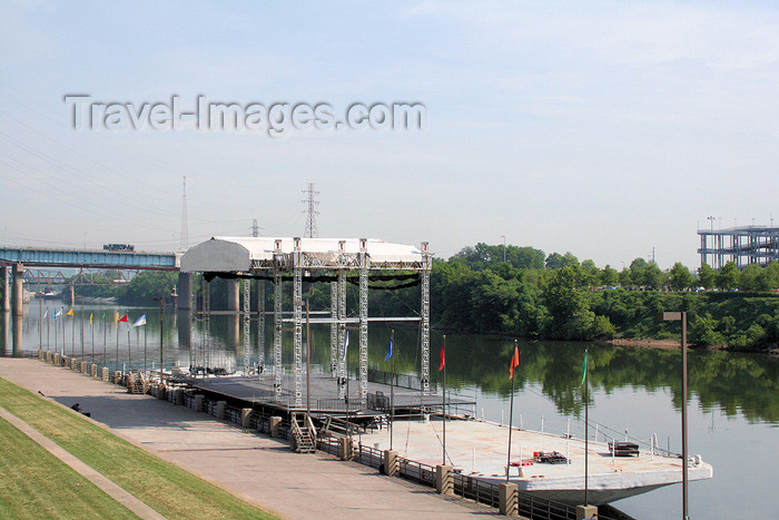 usa764: Nashville - Tennessee, USA: waterfront stage - Cumberland River - photo by M.Schwartz - (c) Travel-Images.com - Stock Photography agency - Image Bank