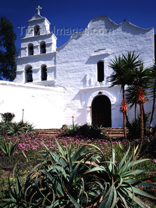 usa835: San Diego: Mission San Diego de Alcala est, 1769, the oldest European mission in California - chapel façade - California's First Church - photo by J.Fekete - (c) Travel-Images.com - Stock Photography agency - Image Bank