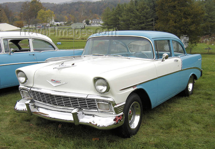 usa918: USA - Mathias (West Virginia): the glorious 50's - 1956 Chevrolet 210 Delray 2 Door Sedan - Chevy - classic car - photo by G.Frysinger - (c) Travel-Images.com - Stock Photography agency - Image Bank