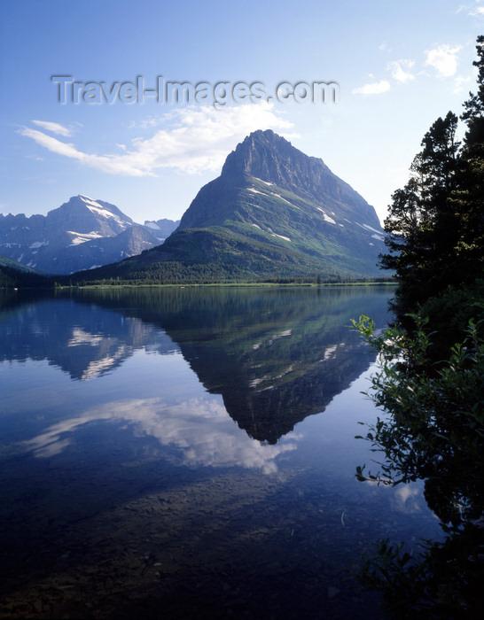 usa936: USA - Glacier NP (Montana): Swiftcurrent Lake - reflection of surrounding mountain range - photo by J.Fekete - (c) Travel-Images.com - Stock Photography agency - Image Bank