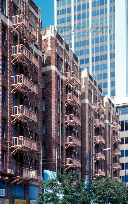 usa951: San Diego (California): emergency stair on the rear of old buildings - downtown  - photo by J.Fekete - (c) Travel-Images.com - Stock Photography agency - Image Bank